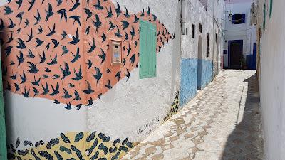 murales di uccelli