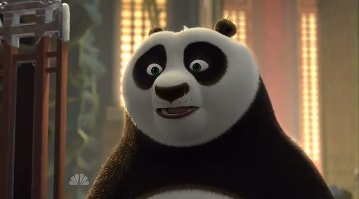 Screen Shot Of Kung Fu Panda Holiday Special (2010) Dual Audio Movie 100MB small Size PC Movie