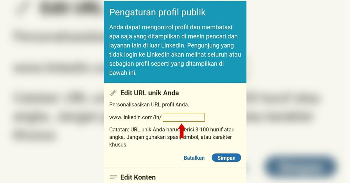 Cara Custom Alamat URL Profil LinkedIn