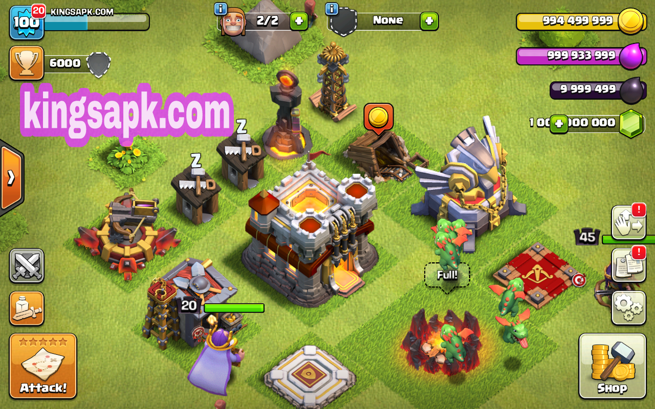 Download Clash of lights COC MOD APK Terbaru Latest Version