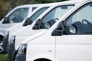 Fleet of vans