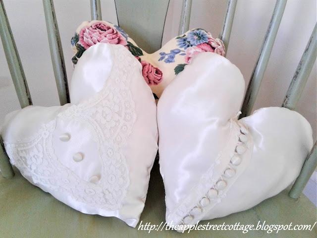 Heart shaped decorator pillows
