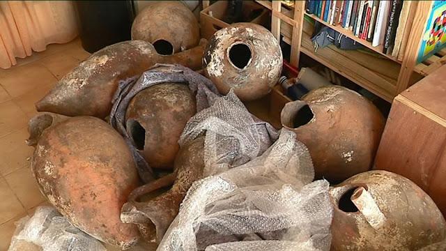 17 amphorae from the 3rd century BC discovered off Cannes