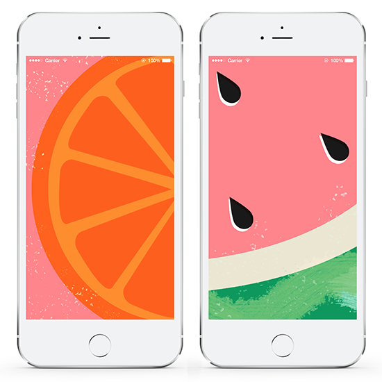 Fresh Fruit! Watermelon & Orange Design Downloads | LLK-C.com