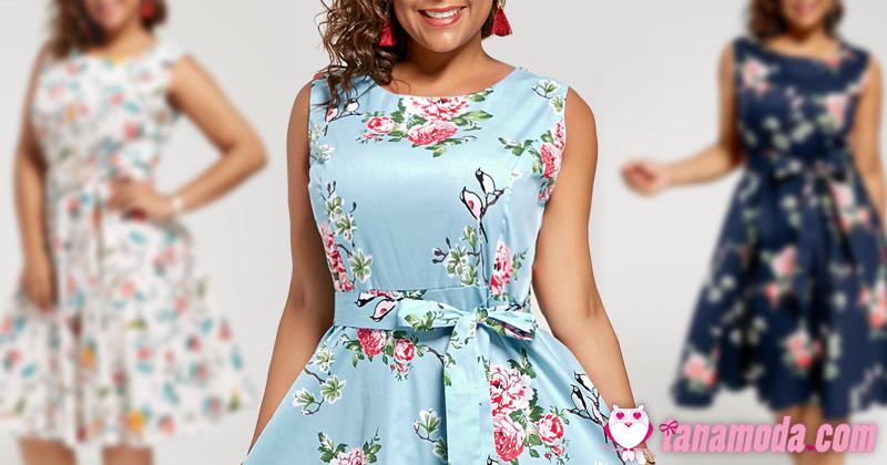 Vestidos Florais Plus Size para Primavera/Verão