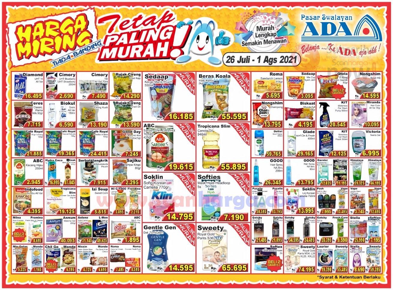 Katalog Promo ADA Swalayan Terbaru 26 Juli - 1 Agustus 2021