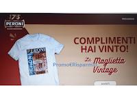 Peroni 175° - Edizione Anniversario : gioca e vince una delle 1204 Magliette Vintage. Prova anche tu!