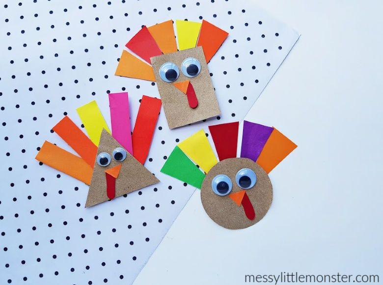 Turkey craft Thanksgiving craft for kids
