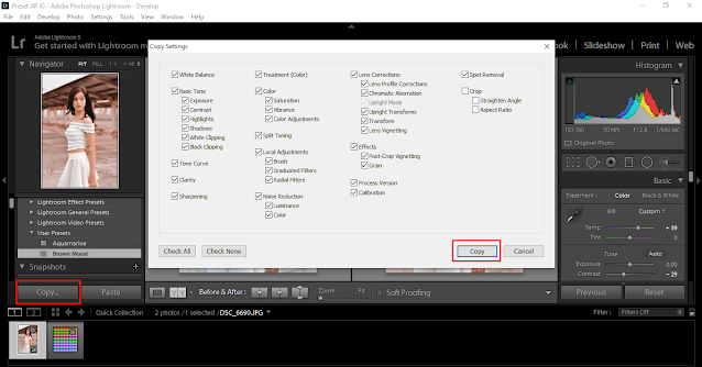 membuat preset di lightroom