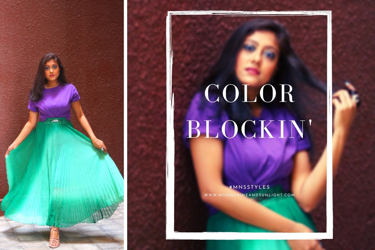 colorblocking in 2020, indian fashion blogger