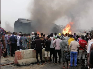 Fire Outbreak: Truck Driver Dead As Explosion Hits Lagos Ibadan Expressway