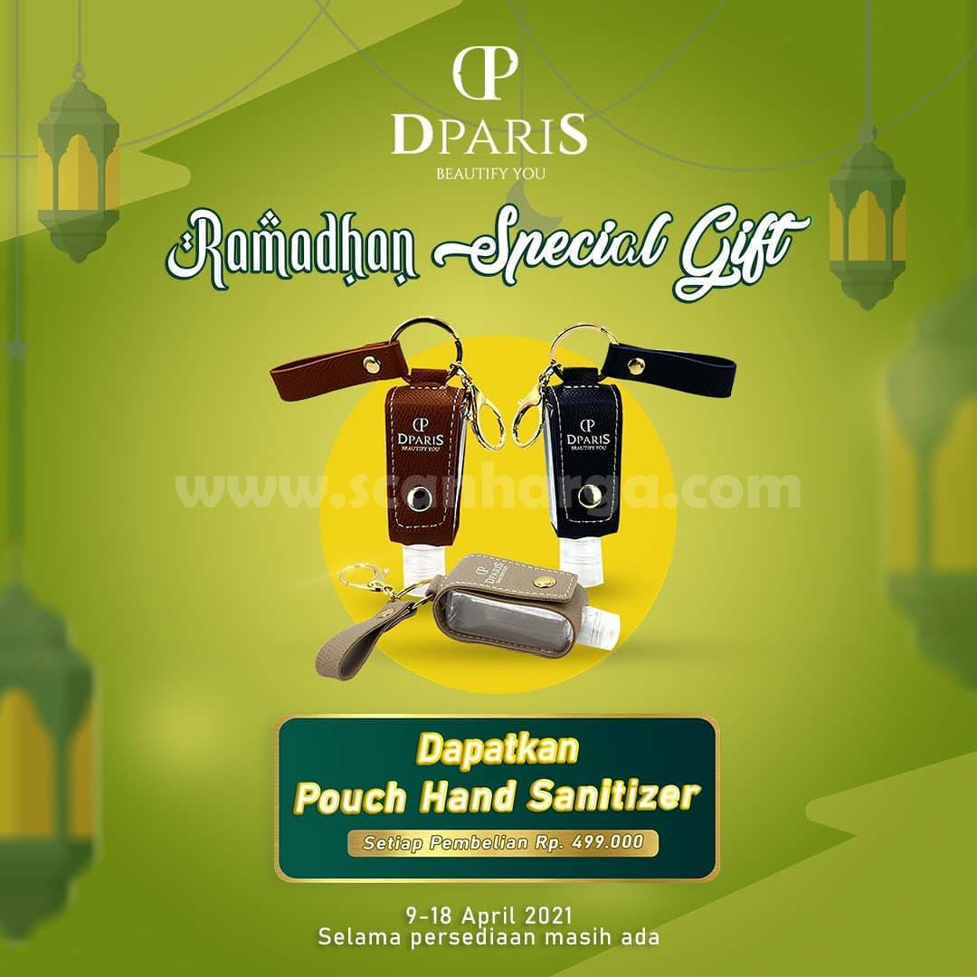 DPARIS Promo Ramadhan Special Gift - Gratis Pouch Hand Sanitizer