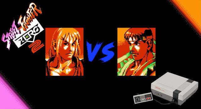 Street Fighter Zero 2 mas... para o Nintendinho?