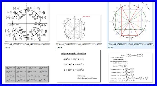 كل ما يخص درس الحساب المثلثي لكل المستويات