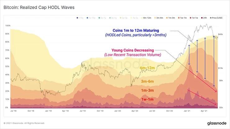 График Реализованной Капитализации волн HODL