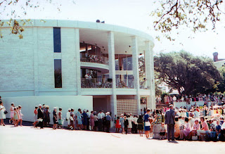 Crowd at Dedication Ceremony, Butt-Holdsworth Memorial Library, Kerrville