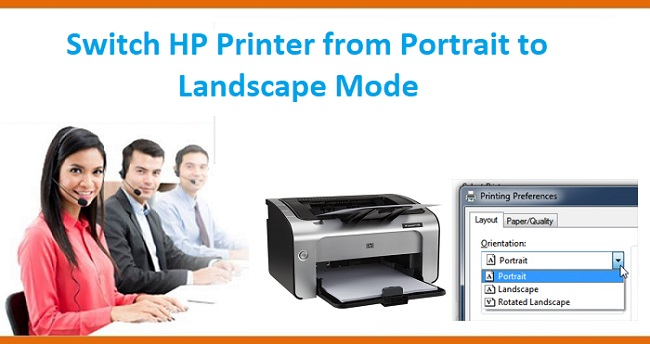 How to Switch Printer from Portrait to Landscape Mode?