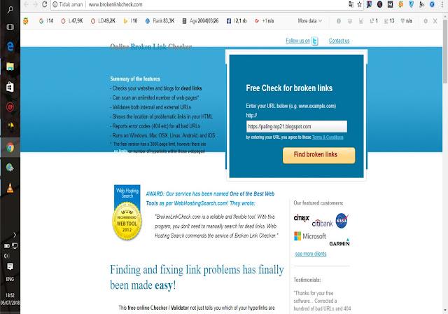 Cara Cek Link Rusak (Broken Link) Pada Blog Beserta Cara Mengatasinya