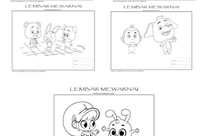 Download Lembar Mewarnai  Kartun Untuk Anak
