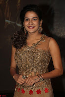 Jenny in brown transparent sleeveless anarkali dress at Shamanthakamani pre release function ~  Exclusive 051.JPG