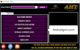 How To Download AHT PORT TOOL Samsung LG Factory Reset Screenlock Unlock Tool Latest Update 2020 Free Password Download To AndroidGSM