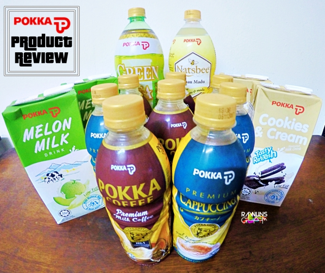 Pokka, Coffee, Cappuccino. Coffee Lover, Melon Milk, Cookies & Cream Milk, Jasmine Green Tea, Superios Taste Award, Halal, byrawlins, product review, real brewed,