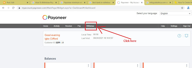Easiest Tips On How To Withdraw Payoneer In Nigeria