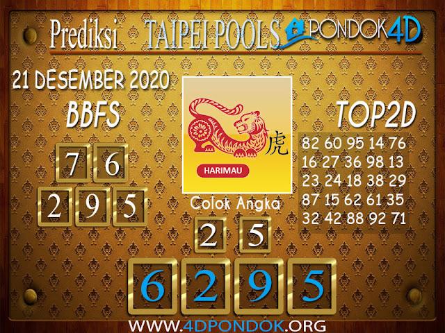 Prediksi Togel TAIPEI PONDOK4D 21 DESEMBER 2020