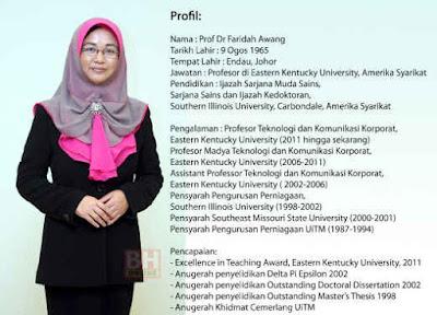 Prof Dr Faridah Awang