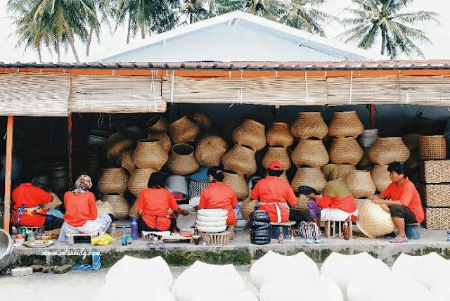 pusat kerajinan bambu di desa wisata malangan yogyakarta