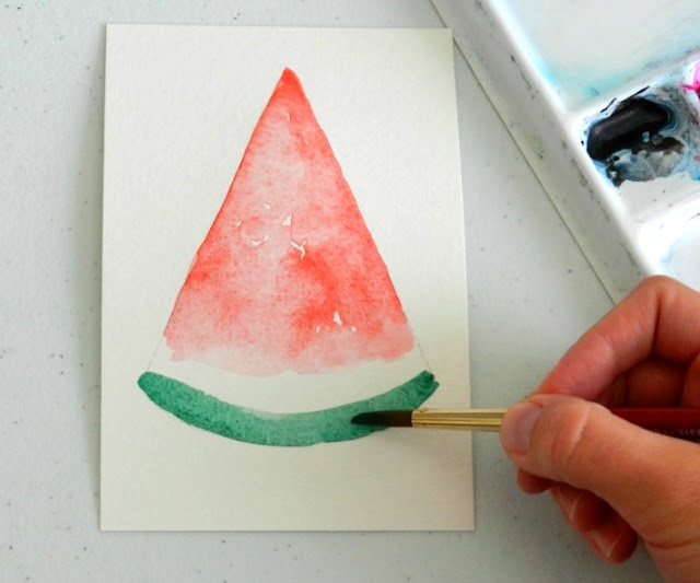 How to paint a watermelon slice: grow creative blog