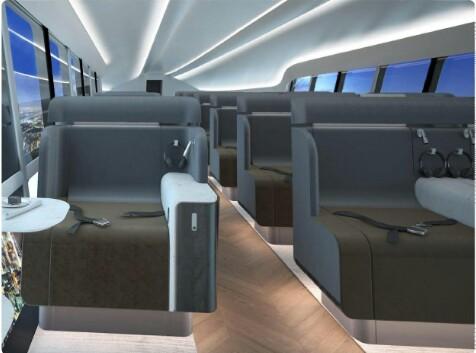 """Alt: = """"seats in Airlander 10"""""""