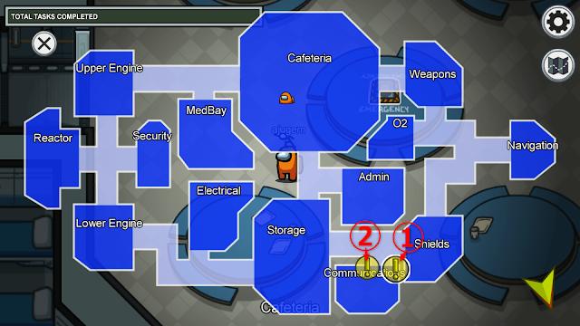 Communications(通信室)のタスクマップ説明画像