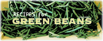 Tired of the same old green beans? Find new inspiration in this collection of seasonal Bean Recipes ♥ AVeggieVenture.com. Many Weight Watchers, vegan, gluten-free, low-carb, paleo, whole30 recipes from simple for every day to special for occasions.