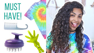 Favorite Curly Hair Tools w Silicon Shampoo Brushes