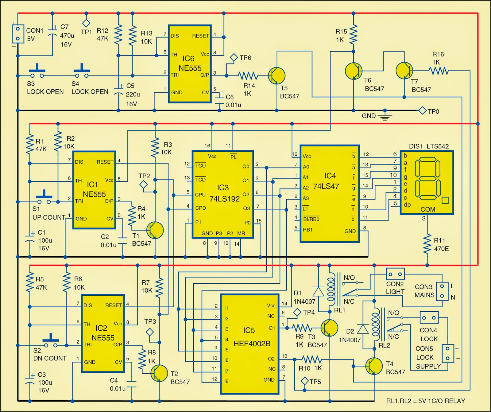 automatic room lock and lights circuit diagram [ 1600 x 1342 Pixel ]
