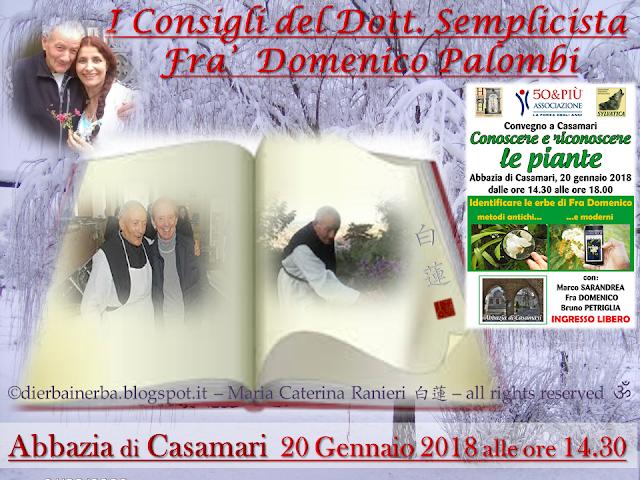 Convegno del Dottor Semplicista - Abbazia di Casamari  20 Gennaio 2018 alle ore 14.30