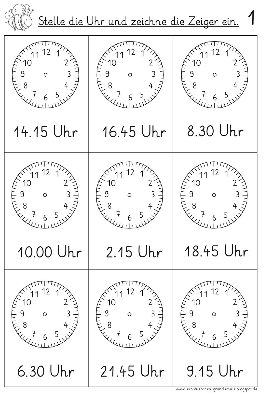 Lernstubchen Vorgegebene Uhrzeiten Einstellen 7
