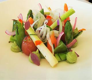 Ceviche de verduras Restaurante El Lago - Massimo Filippa