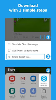 Steps to download twitter video