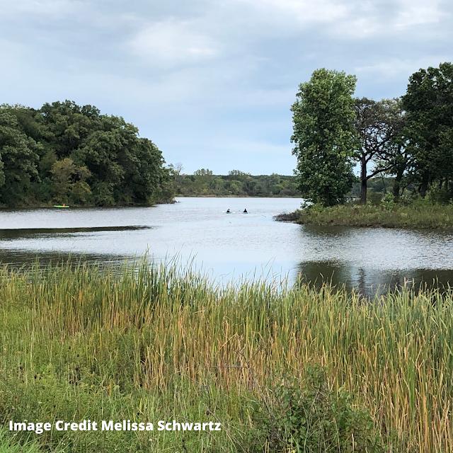 Nature lovers enjoy kayaking and canoeing on Busse Lake. Image credit Melissa Schwartz.
