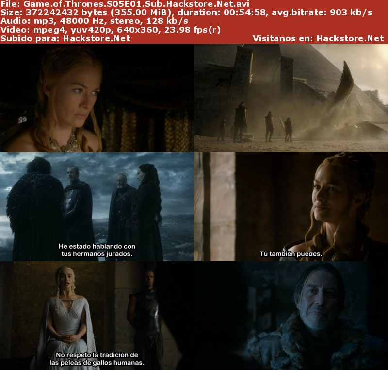 Capturas de Game of Thrones Quinta Temporada Subtitulado