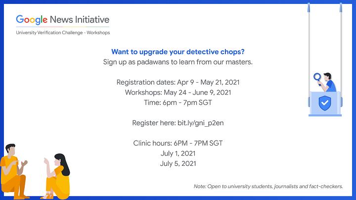 Google to hold University Verification Workshops to help fight misinformation