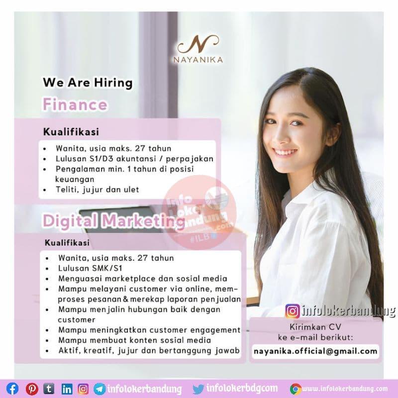 Lowongan Kerja Nayanika Bandung Juni 2021