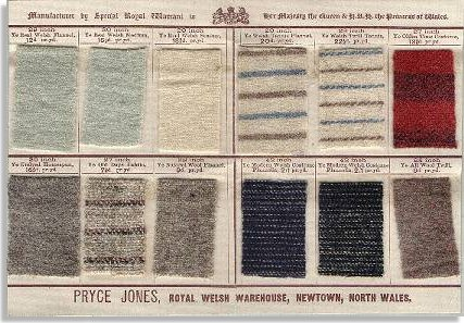 Flannel samples from the Royal Welsh Warehouse