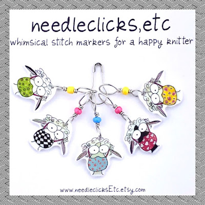 whimsical sheep stitch markers