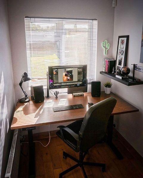 desain ruang kerja kantor pribadi ergonomis