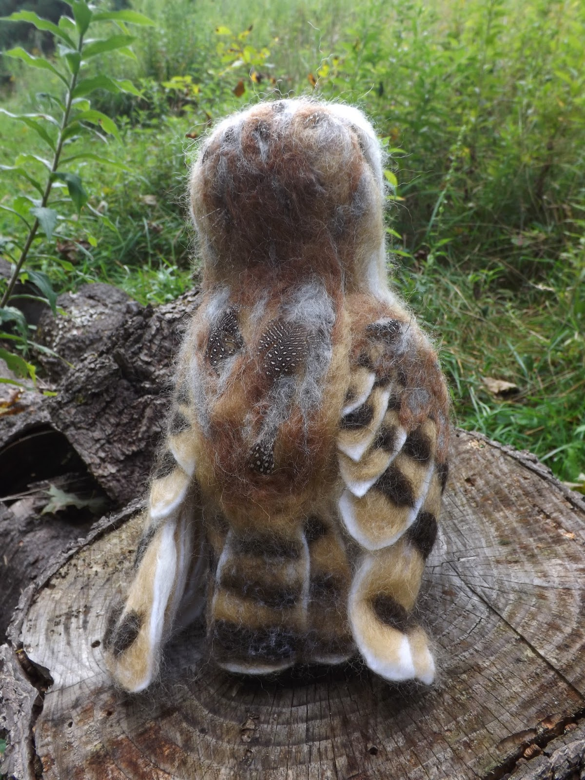 Feather Felting: Another Life-sized Barn Owl