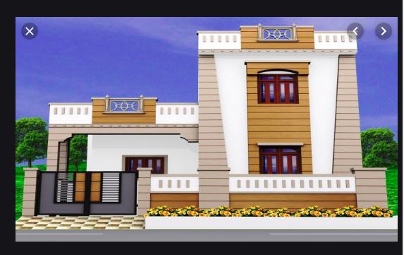 5 Marla Front corner house design in Pakistan
