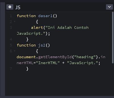 Contoh Sintaks JavaScript